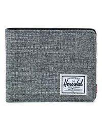 Herschel Supply Co. Gray Raven Crosshatch Hank Wallet