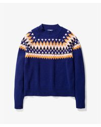 Norse Projects Https://www.trouva.com/it/products/norse-projects-ragna-fairisle-wool-sweater - Blu