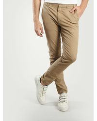 Norse Projects - Pantalon chino slim stretch sable Aros - Lyst
