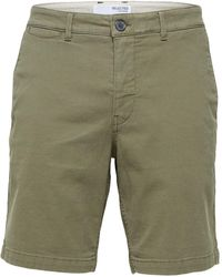 SELECTED Https://www.trouva.com/it/products/selected-homme-chester-flex-shorts-olive - Verde