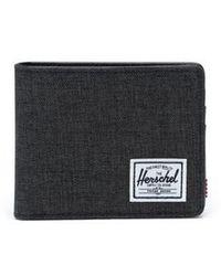 Herschel Supply Co. Black Crosshatch Roy Coin Wallet