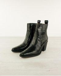 Ganni Western Ankle Boot - Black