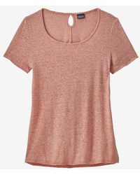 Patagonia Mellow Melon Womens Mount Airy Scoop T Shirt - Pink