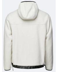 Rains Off White Fleece Pullover - Multicolor