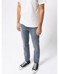 Nudie Jeans Jeans Lean Dean con salvia spezzata - Blu