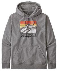 Patagonia Herren Linie Logo Ridge Uprisal Hoody Kies Heather Glh - Grau
