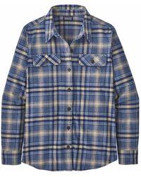 Patagonia WS LS Cot Fjord Flanell Shirt 42405 IFDB - Blau