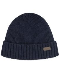 Barbour Carlton Beanie Navy - Azul