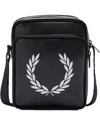 Fred Perry Bolsa lateral Laurel Wreath Negro