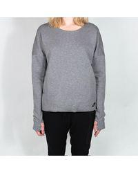 Nike T-shirt en molleton technique gris pour femme