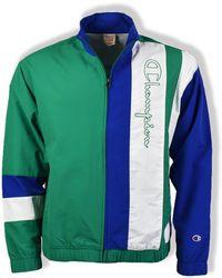 Champion Haut de Voie Full Zip Track Vert / Bleu / Blanc