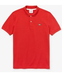 Lacoste Red Cotton Live Slim Fit Polo Shirt