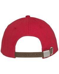 Tommy Hilfiger Tommy Jeans Heritage Badge Cap Racing Rojo