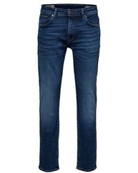 SELECTED - Straight Fit Jeans Medium Blue - Lyst
