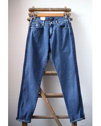 Scotch & Soda Jeans boyfriend slim Petit Ami con pannello laterale - Blu