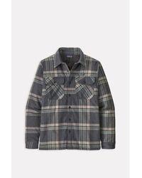 Patagonia Fjord Flannel Shirt Plaid Ink Noir - Gris