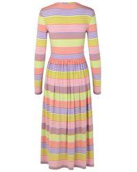 Stine Goya Pastel Stripes Joel Jersey Dress - Multicolor