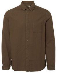 Folk Flannel Pop Stud Shirt Military Green