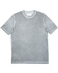 Folk T-shirt à manches contrastées en pastel teint à froid - Multicolore