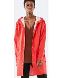 Rains Long Jacket - Red