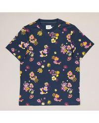 Farah Berkley Short Sleeve T Shirt In Yale - Blue