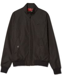 Fred Perry Black Polyester J7412 102 Reissues S Harrington Jacket