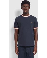 Farah Birmingham T Shirt Navy - Blue