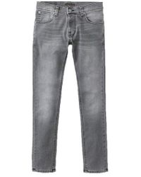 Nudie Jeans Jeans aderenti skinny stretti Mid Grey Pwr - Grigio