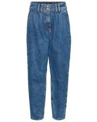 Vero Moda Sana Tapered Carrot Jeans Medium Blue 32 Length