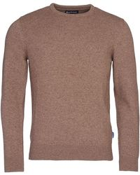 Barbour Harold Elbow Patch Crew Knit Sandstone - Brown
