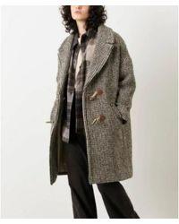 Sessun Bogart woodbrown abrigo - Multicolor