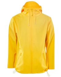 Rains Yellow Polyurethane And Polyester Breaker Jacket