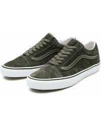 Vans Chaussures UA Old Skool 36 DX OG Pig Sue Olive - Marron