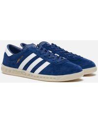 adidas Sneaker Hamburg Marine bianca e bianco sporco - Blu