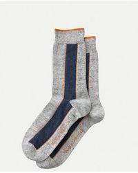 Nudie Jeans Olsson High Gray Organic Cotton Socks