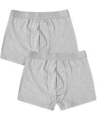 Organic Basics Lite Boxershorts 2er-Pack Grau Melange M
