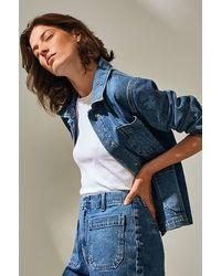 SELECTED Slfmartha Denim Jacket Blue