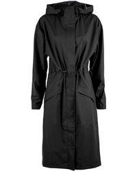 Rains Impermeable Noon Coat - Black