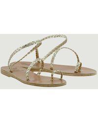 Ancient Greek Sandals Sandalias tejidas Eleftheria - Metálico