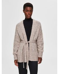 SELECTED Open Front Cardigan - Multicolour