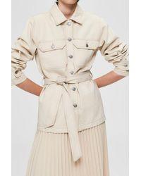 SELECTED White Denim Helena Jade Jacket - Natural