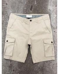 SELECTED Pantalones cortos de carga Aiden - Neutro