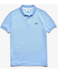 Lacoste Small Light Blue Cotton Live Slim Fit Polo Shirt