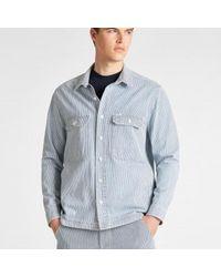 Lee Jeans Gris Lee Workwear Hickory Summer Wash Sobrecamisa - Azul