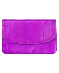 Becksöndergaard Classic Handy Eel Skin Purse Rosebud - Purple