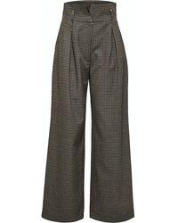 SELECTED Lauren High Waist Wide Leg Trousers - Multicolour