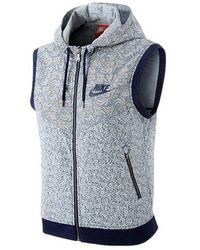 Nike Blue / Gray Women`s Liberty Windrunner Vest