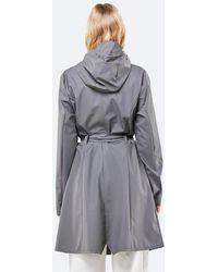 Rains Curve Jacket Charcoal - Gray