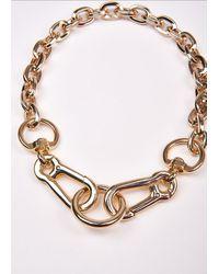 Essentiel Antwerp Gold Tone Clasp Chain Necklace - Multicolour