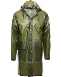 Rains Abrigo con capucha verde brumoso